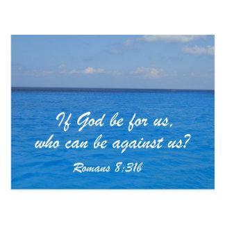 Romans 8:31b postcard