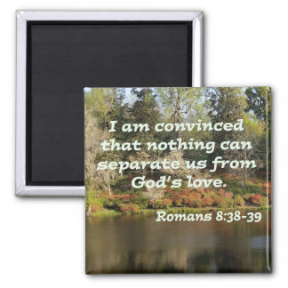 Romans 8:38-39 square magnet