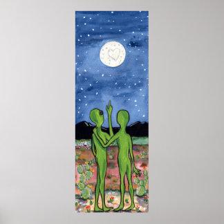 Romantic Alien Roswell Honeymoon UFO Humor Poster