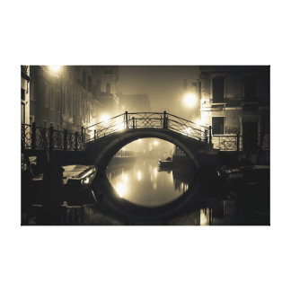 Romantic Arched Bridge Canvas Print