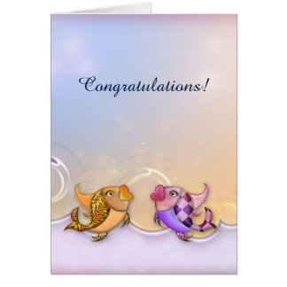 Romantic & Artistic Fish Congratulations Card