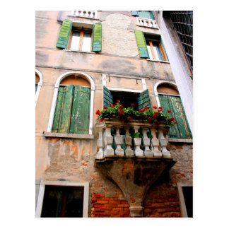 Romantic Balcony Perspective Postcard