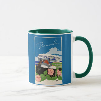 Romantic Bermuda retro vintage travel ad Mug