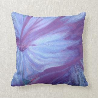 Romantic blue florals throw pillow cushions