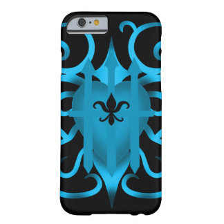 Romantic Blue heart and swirls Barely There iPhone 6 Case