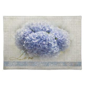 Romantic Blue Hydrangeas Placemat
