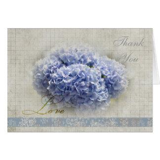 Romantic Blue Hydrangeas Thank You Card