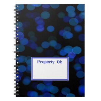 Romantic Blue Moon Photo Notebook