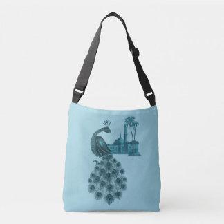 Romantic Blue Peacock Crossbody Bag