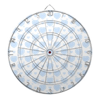Romantic Blue & White Hearts Dartboard
