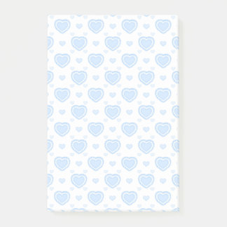 Romantic Blue & White Hearts Post-it Notes