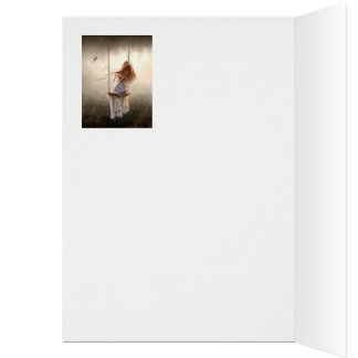 romantic Bohemia photograph swing young girl Card