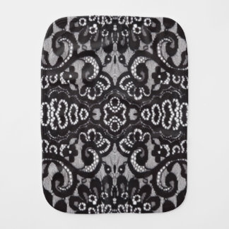 romantic bohemian fashion paris black lace burp cloth