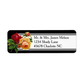 Romantic Bohemian Vintage Roses Address Return Address Label