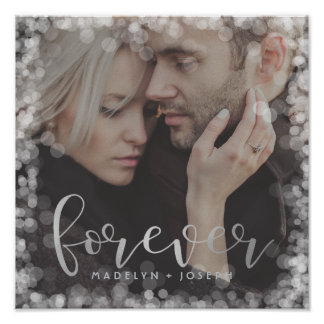 Romantic Bokeh Forever | Add Your Photo Poster