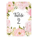 Romantic Botanicals | Table Numbers 13 Cm X 18 Cm Invitation Card