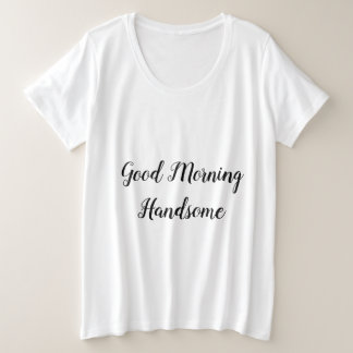 Romantic Breakfast Love Quote Typography Plus Size T-Shirt