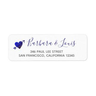 romantic bride groom love contact address return address label