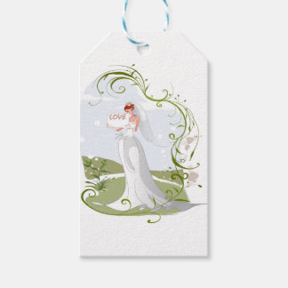 Romantic Bride in the Nature Gift Tags