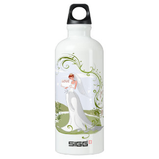 Romantic Bride in the Nature Water Bottle