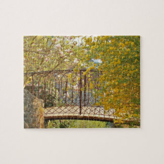 Romantic Bridge in the Spring Jigsaw Puzzle