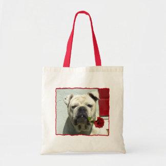 Romantic Bulldog tote bag