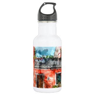 Romantic Burano Italy near Venice Italy 532 Ml Water Bottle