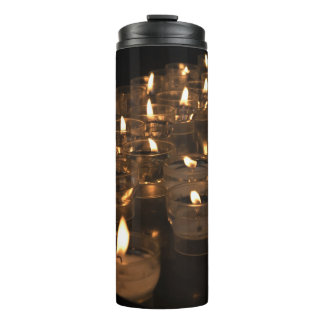 Romantic Candlelight Flames Candles Tumbler Thermal Tumbler