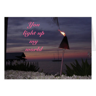 romantic card - You light up my world