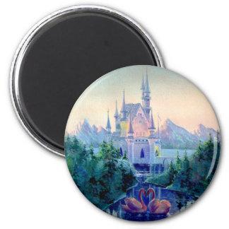 ROMANTIC CASTLE by SHARON SHARPE 6 Cm Round Magnet