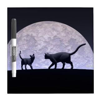 Romantic cats dry erase board
