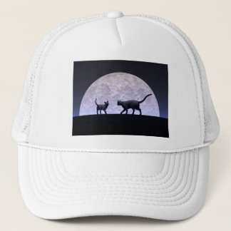 Romantic cats trucker hat
