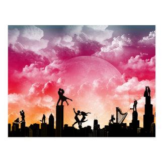 Romantic City Postcard
