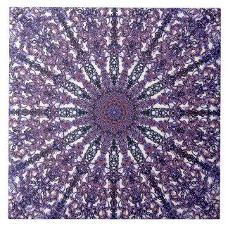 Romantic colored mandala ornament arabesque ceramic tile