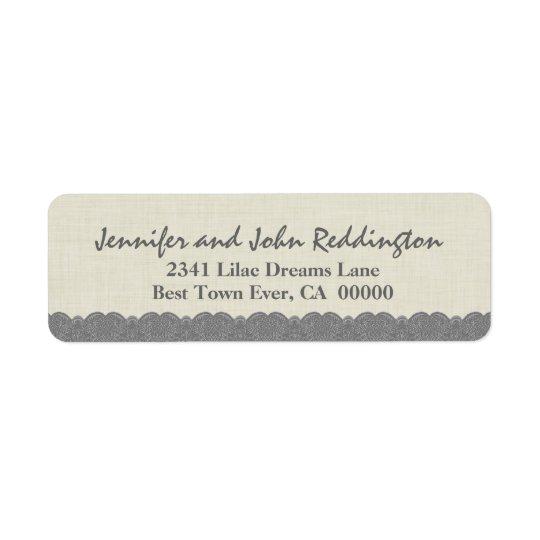 Romantic Coloured Lace Address Label