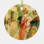 Romantic Couple 18th Century Christmas Ornament