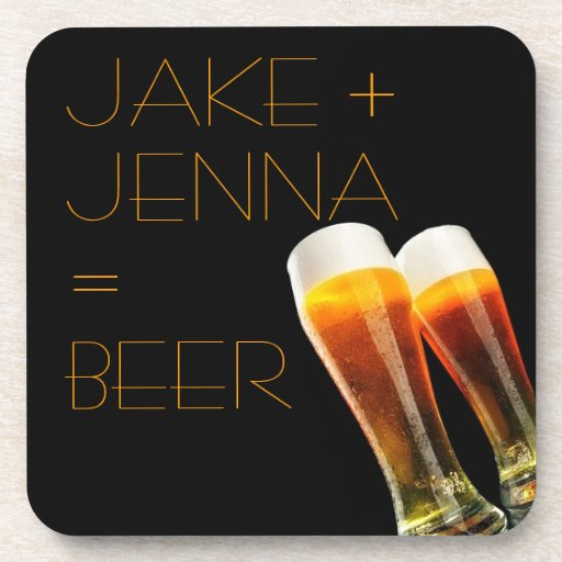 Romantic Couple Beer Cheers Drink Coaster Alcohol