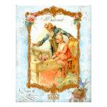 Romantic Couple French Vintage Style Invitation