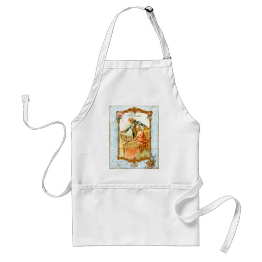 Romantic Couple French Vintage Style Standard Apron