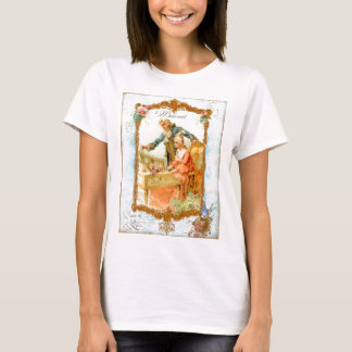 Romantic Couple French Vintage Style T-Shirt