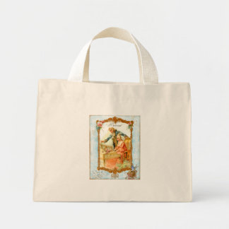 Romantic Couple Harpsicord Art Bag Tote