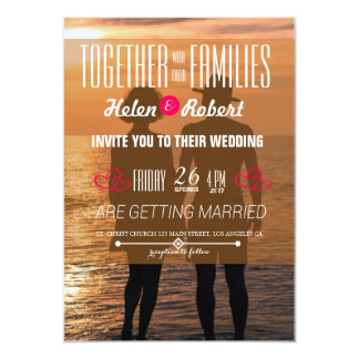 Romantic Couple Holding Hands at Sunset Card