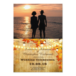 Romantic Couple Holding Hands at Sunset/fall Card