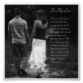 "Romantic Couple ""To My Love"" Verse Photo Print"