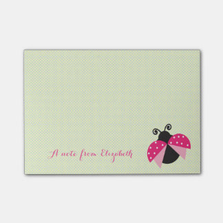 Romantic Cute Lovely  Stylish ,Polka Dots,Ladybug Post-it Notes