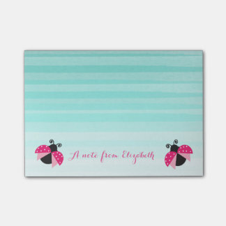 Romantic Cute Lovely  Stylish ,Striped,Ladybugs Post-it Notes