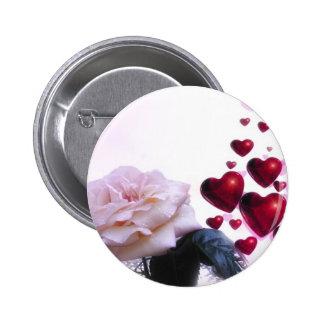 romantic date bridal shower vines heart hearts koi 6 cm round badge