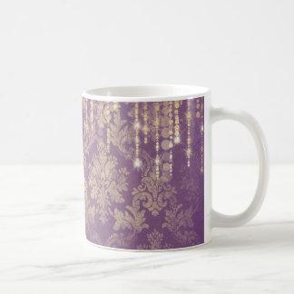 Romantic Diamond Crystal Purple Baroque Drink Mug