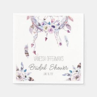Romantic Dreamcatcher Boho Bridal Shower Napkin Disposable Napkins