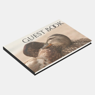 Romantic Duck Birds Wildlife Animal Guest Book